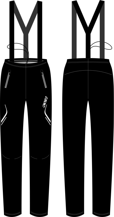CLUB PANTS UNISEX full side zip with bibs (3)